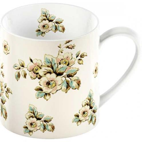 Porcelánový hrnek Cottage Flower cream