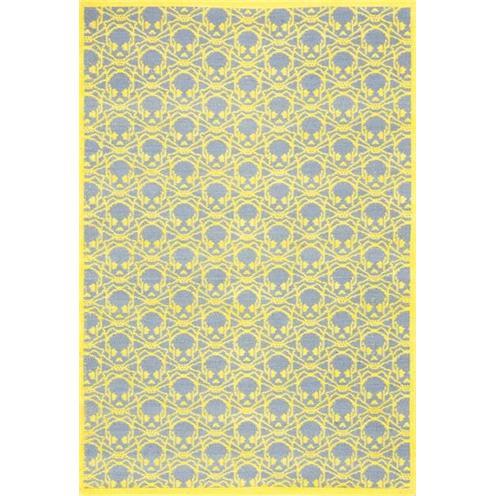 Žlutý koberec kusový